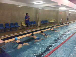 На тренировке в Олимпийском