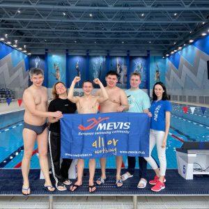 Заплыв «Проверь себя» в бассейне «Акватория ЗИЛ».  20 декабря 2020. - Сеть бассейнов клуба «Мэвис-1» обучение плаванию взрослых
